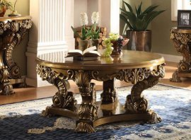 Traditional Luxury HD-8008 Coffee Table in Brown by Homey Design