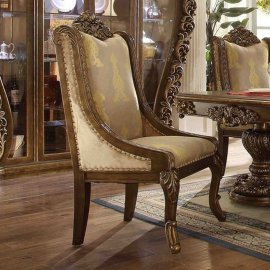 Traditional Rich HD-8011 Gilded Chair in Brown by Homey Design