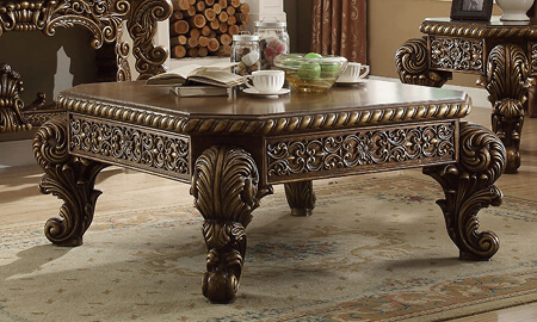 Traditional Rich HD-8011 Coffee Table in Brown by Homey Design