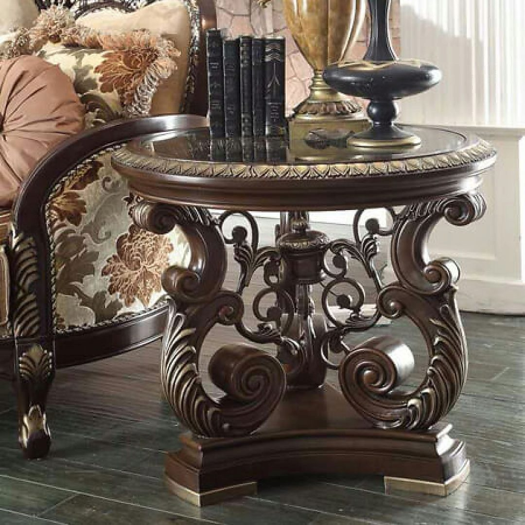 Traditional Classic HD-8013 Coffee Table in Brown by Homey Design