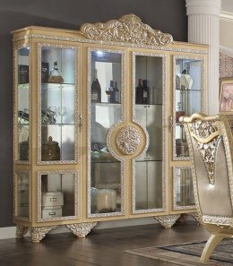 Traditional Classic HD-8015 Gilded Curio in Beige by Homey Design