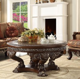 Traditional Royal HD-8017 Coffee Table in Brown by Homey Design