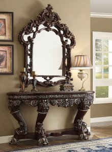 Traditional Royal HD-8017 Console Table in Brown by Homey Design