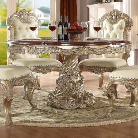 Traditional HD-8017 Dining Round Table in Gold by Homey Design