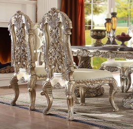 Traditional Royal HD-8017 Side Chair in Gold by Homey Design