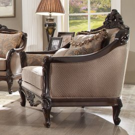 Traditional Chair in Brown Fabric Traditional Style Homey Design HD-09