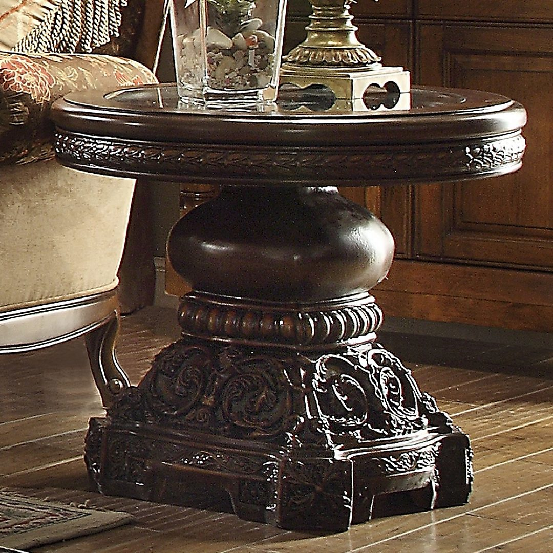 Traditional End Table in Brown Wood Traditional Style Homey Design HD-1100