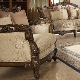 Traditional Chair in Brown Fabric Traditional Style Homey Design HD-1609