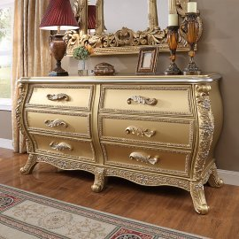 Traditional Dresser in Brown Wood Traditional Style Homey Design HD-1801
