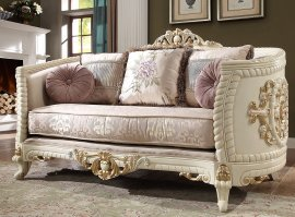 Traditional Loveseat in Beige Fabric Traditional Style Homey Design HD-2011