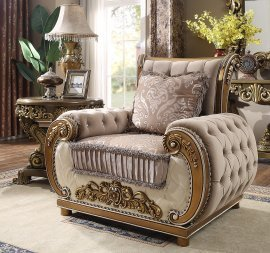 Traditional Chair in Brown Fabric Traditional Style Homey Design HD-25