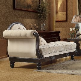 Traditional Loveseat in Brown Fabric Traditional Style Homey Design HD-2651