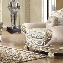 Traditional Chair in Gray Fabric Traditional Style Homey Design HD-2656