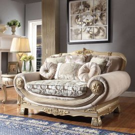 Traditional Loveseat in Gray Fabric Traditional Style Homey Design HD-2656