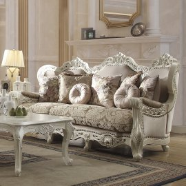 Traditional Sofa in Beige Fabric Traditional Style Homey Design HD-2657