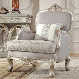 Traditional Chair in Gray Fabric Traditional Style Homey Design HD-2662