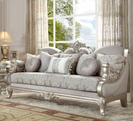 Traditional Sofa in Gray Fabric Traditional Style Homey Design HD-2662