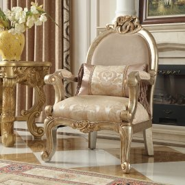 Traditional Chair in Beige Fabric Traditional Style Homey Design HD-2663