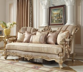 Traditional Sofa in Beige Fabric Traditional Style Homey Design HD-2663