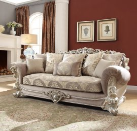 Traditional Sofa in Gray Fabric Traditional Style Homey Design HD-372