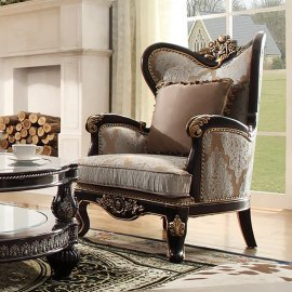 Traditional Chair in Beige Fabric Traditional Style Homey Design HD-551