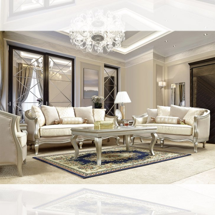 Traditional Living Room Set 3 Pcs In