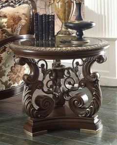 Traditional End Table in Brown Wood Traditional Style Homey Design HD-8013