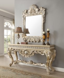 Traditional Console Table in Gray Wood Traditional Style Homey Design HD-8022