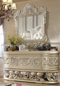 Traditional Dresser in Gray Wood Traditional Style Homey Design HD-8022
