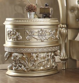 Traditional Nightstand in Gray Wood Traditional Style Homey Design HD-8022