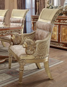 Traditional Dining Chair in Beige Fabric Traditional Style Homey Design HD-8024