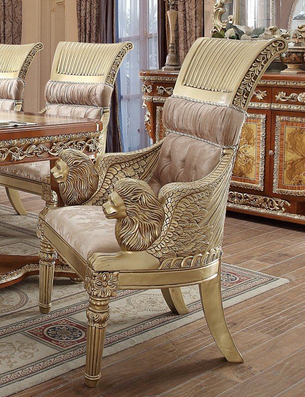 Dining Chair In Beige Fabric
