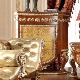 Traditional Chest in Beige Wood Traditional Style Homey Design HD-8024
