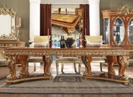 Traditional Rectangle Table in Beige Wood Traditional Style Homey Design HD-8024