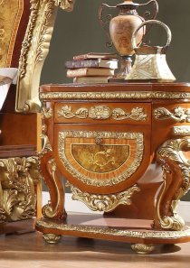 Traditional Nightstand in Beige Wood Traditional Style Homey Design HD-8024