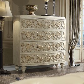 Traditional Chest in White Wood Traditional Style Homey Design HD-8030