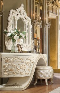 Traditional Dresser in White Wood Traditional Style Homey Design HD-8030