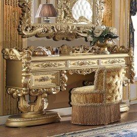 Traditional Dresser in Yellow Wood Traditional Style Homey Design HD-8086