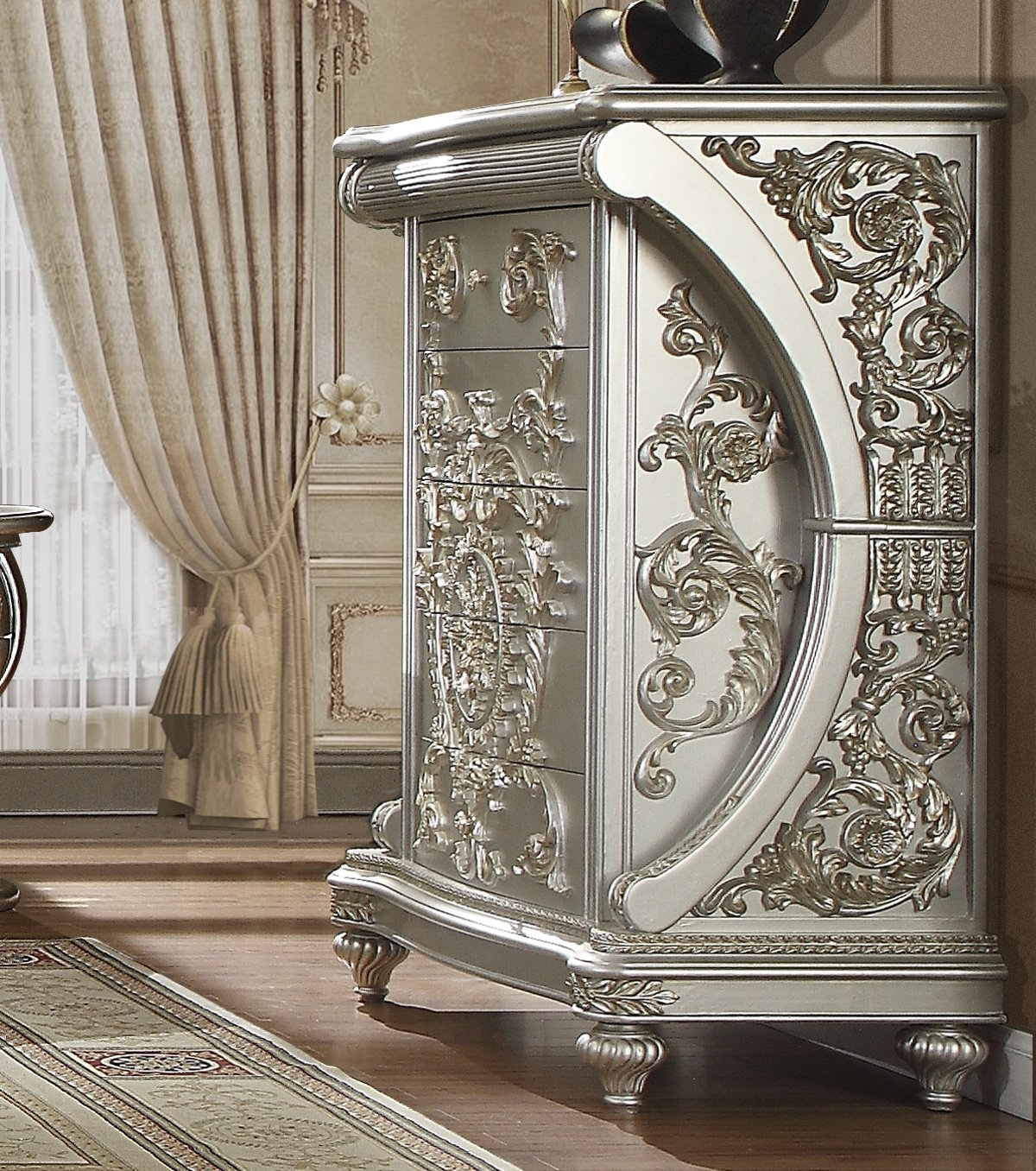 Traditional Chest in Gray Wood Traditional Style Homey Design HD-8088