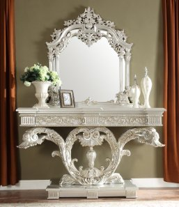 Traditional Console Table in Gray Wood Traditional Style Homey Design HD-8088