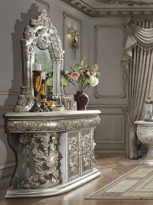 Traditional Dresser in Gray Wood Traditional Style Homey Design HD-8088