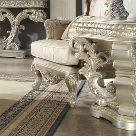 Traditional End Table in Gray Wood Traditional Style Homey Design HD-8088