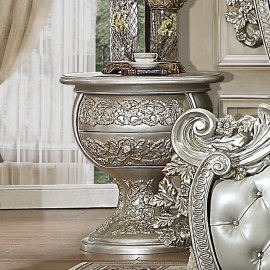 Traditional Nightstand in Gray Wood Traditional Style Homey Design HD-8088
