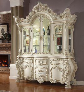 Traditional China in White Wood Traditional Style Homey Design HD-8089