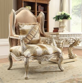 Traditional Chair in Gray Fabric Traditional Style Homey Design HD-820