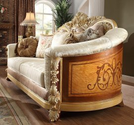 Traditional Loveseat in Green Fabric Traditional Style Homey Design HD-821