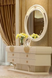 Traditional Dresser in Beige Wood Traditional Style Homey Design HD-901