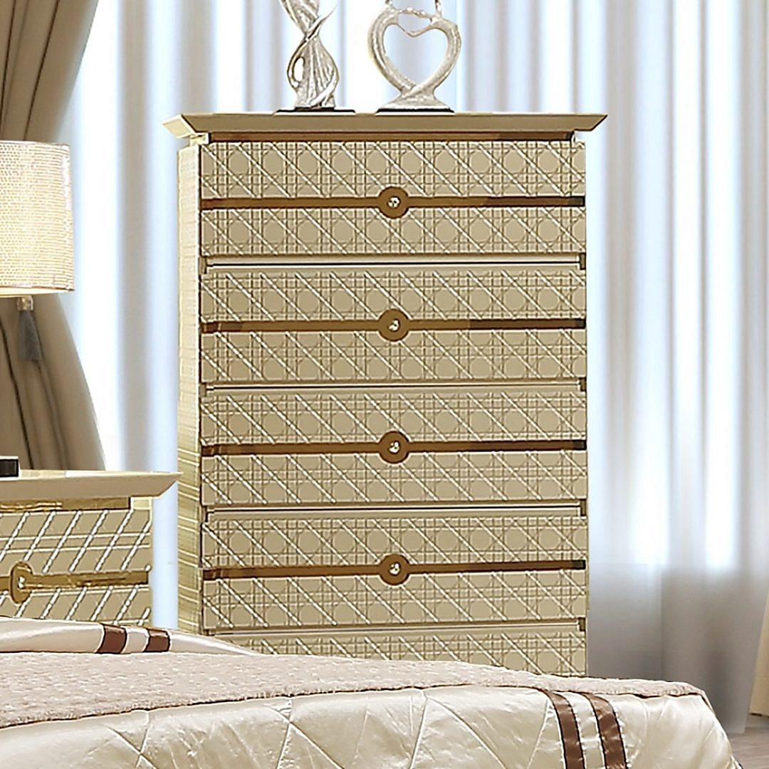 Traditional Chest in Gray Wood Traditional Style Homey Design HD-918
