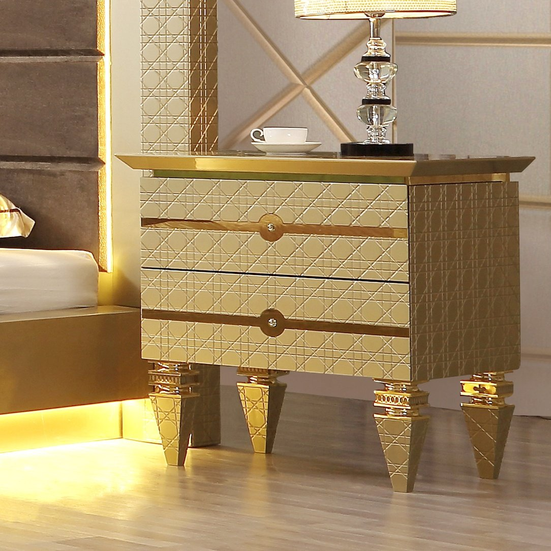 Traditional Nightstand in Gray Wood Traditional Style Homey Design HD-918