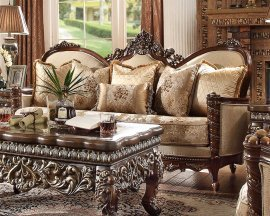 Traditional Loveseat in Brown Fabric Traditional Style Homey Design HD-92